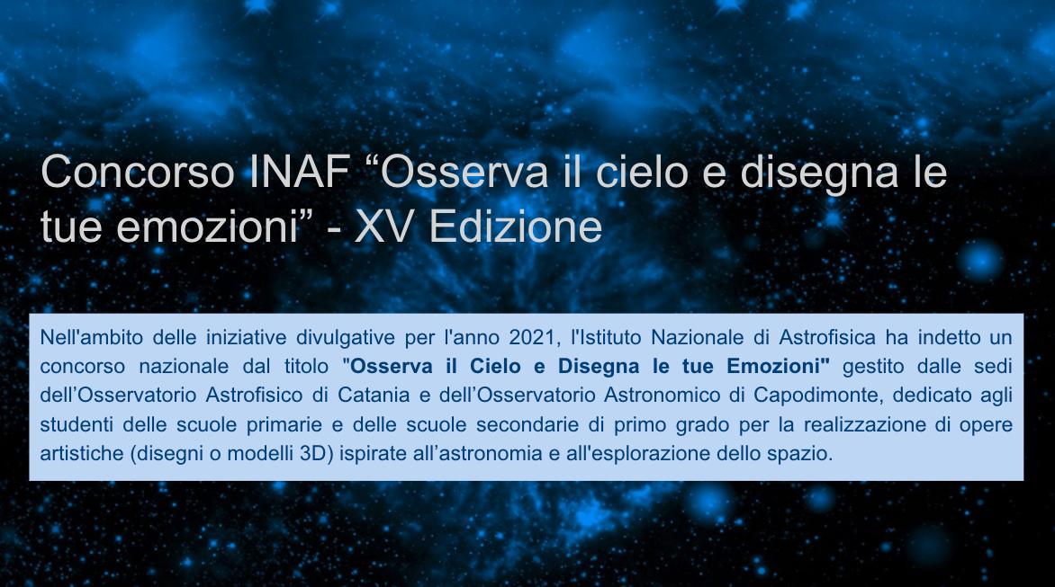 Premio Concorso INAF 1F sc. secondaria